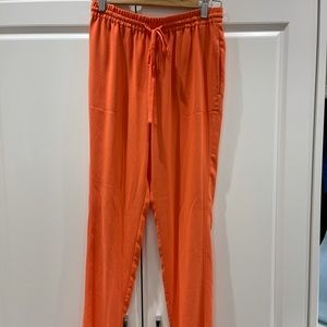 Coral pink Aritzia T.Babaton trousers
